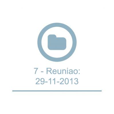 7 - Reunião: 29-11-2013
