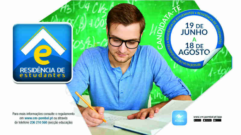 candidaturas abertas residencia estudantes pombal 17-18