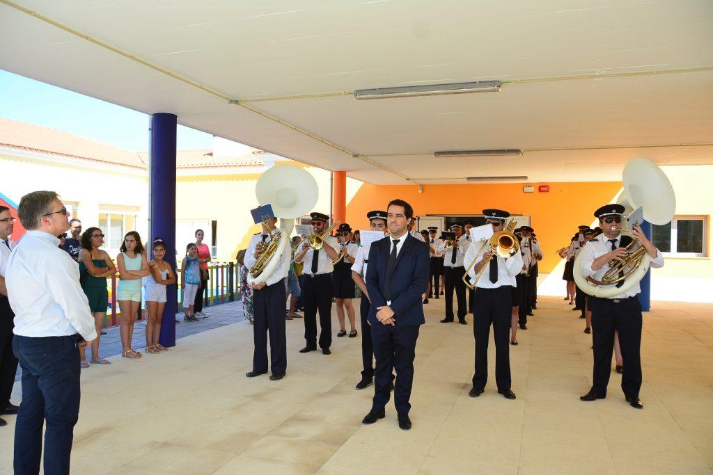 visita de inauguração do novo Centro Escolar de Vermoil