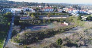 Vista aérea court de ténis