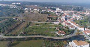 Vista aérea Quinta de Sant'Ana e Rio Anços
